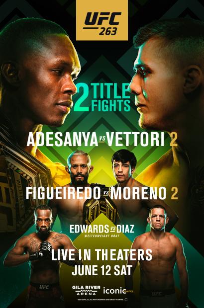 UFC 263: Adesanya Vettori (2D) Poster